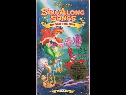 Opening and Closing to Disney's Sing Along Songs - Under the Sea 1990 VHS