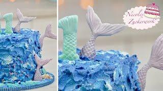Mermaid-Torte I Unten im Meer I Unterwasserwelt Torte von Nicoles Zuckerwerk