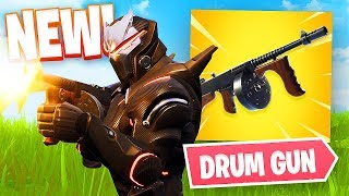 New Fortnite Update DRUM GUN Gameplay!! (Fortnite Battle Royale)