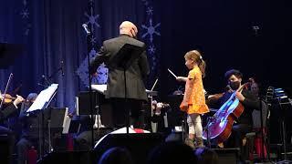 Girl Conducting Sleigh Ride