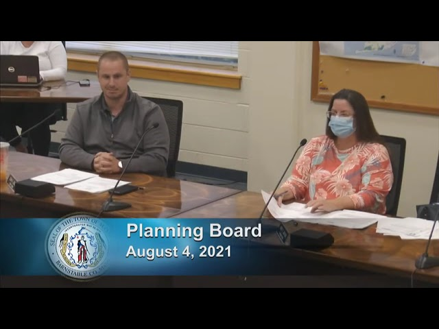 Planning Board 8-4-21