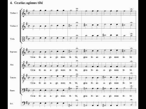 Vivaldi - Gloria RV589 - IV.Gratias agimus - V.Propter magnam gloriam (score)