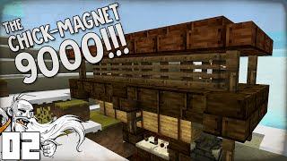 """THE CHICK-MAGNET 9000™!!!"" Minecraft Vanilla Survival Part 2"
