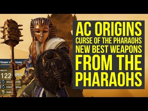 Assassin's Creed Origins Best Weapons FROM PHARAOH BOSSES (AC Origins Curse of the Pharaohs)