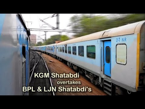 Parallel Action: Shatabdi overtakes Shatabdi Express Train  [Indian Railways]