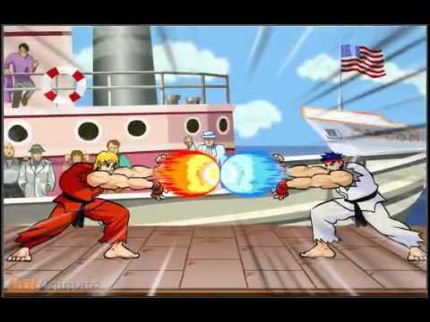 Ken Vs Ryu Hadouken Battle Youtube