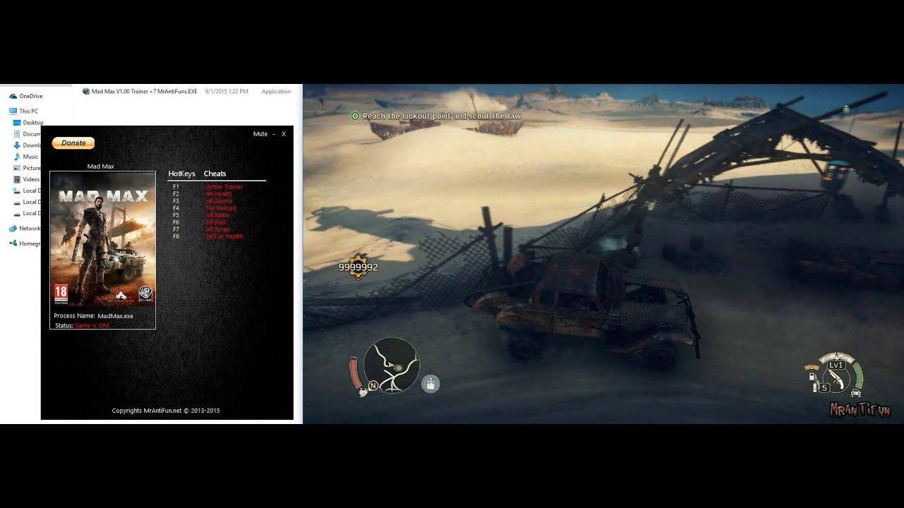 Mad Max Trainer +7 - YouTube