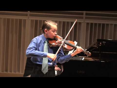 Sebastian Carrasco (12) plays Czardas and L'Abeille (The Bee)