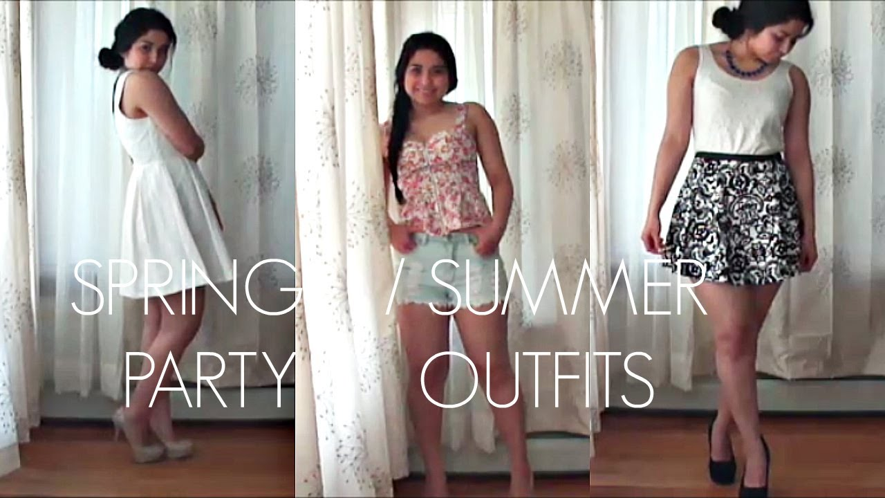 sc 1 st  YouTube & Spring/Summer Party Outfit Ideas - YouTube