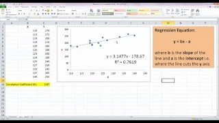 How To... Perform Simple Linear Regression in Excel 2010