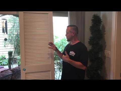 Plantation shutter as a door