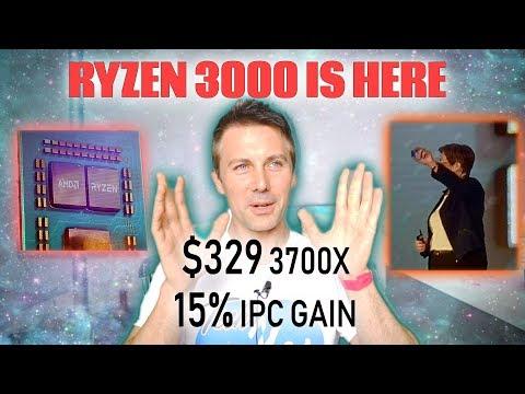 Ryzen 3700X, 3800X, 3900X Full Specs and LEAKED 16 Core Overclocks
