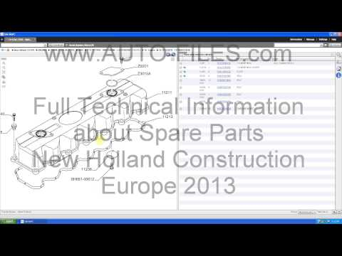 Full Technical Information: Spare Parts New Holland Construction Europe 2013