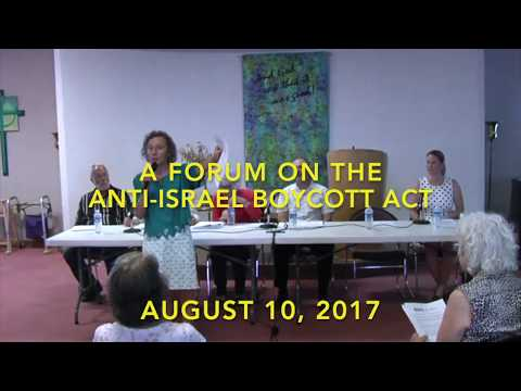Albuquerque Jewish Voice for Peace 8/10/17  Panel Discussion