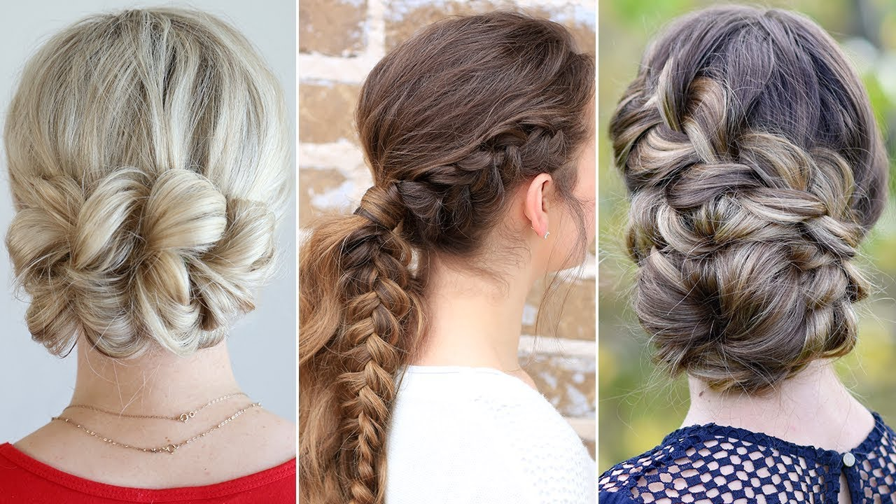3 Easy Updo Prom Hairstyles Youtube