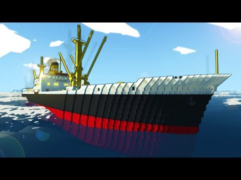 We Pressed a Magic Button that Split this Ship in Half! - Stormworks Multiplayer Sinking Ship