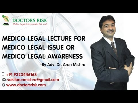Medico Legal Lecture at Pathas Pune -  Adv.  Dr.  Arun Mishra