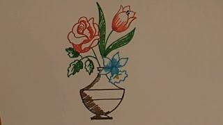 Как нарисовать, Ваза с цветами,  для детей, Draw a picture, Vase with flowers, for kids(Как нарисовать, Ваза с цветами, для детей, Draw a picture, Vase with flowers, for kids., 2016-04-24T03:00:00.000Z)