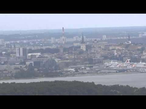 Sights from the Tallinn television tower, Tallinn, Estonia