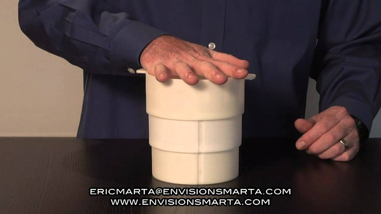 Smartacan Miniature Prototype Of Collapsible Plastic Trash