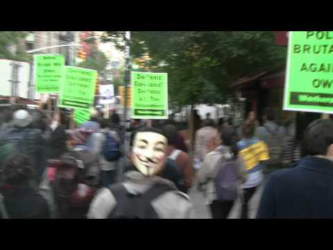 Occupy wall st Veteran chased and Arrested