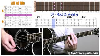 Guitar Lesson: All Of Me - Jazz Standard w/ Animation & TAB