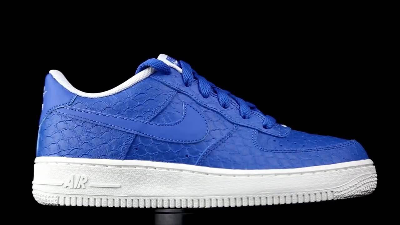 5405693cf127 Nike Air Force 1 Premium Blue - YouTube