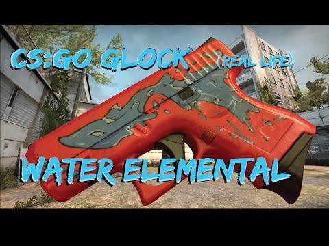 CS:GO Glock Water Elemental Painting (Real life)