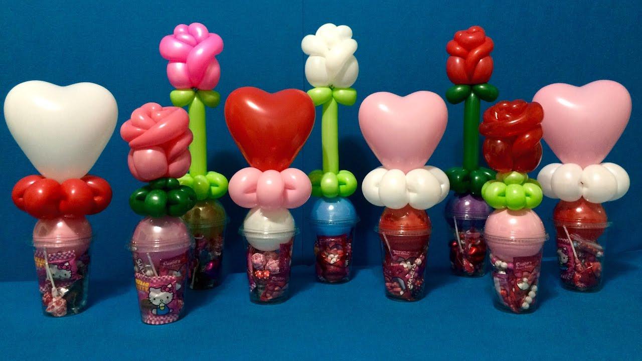Sweetheart Balloon Candy Cups Youtube