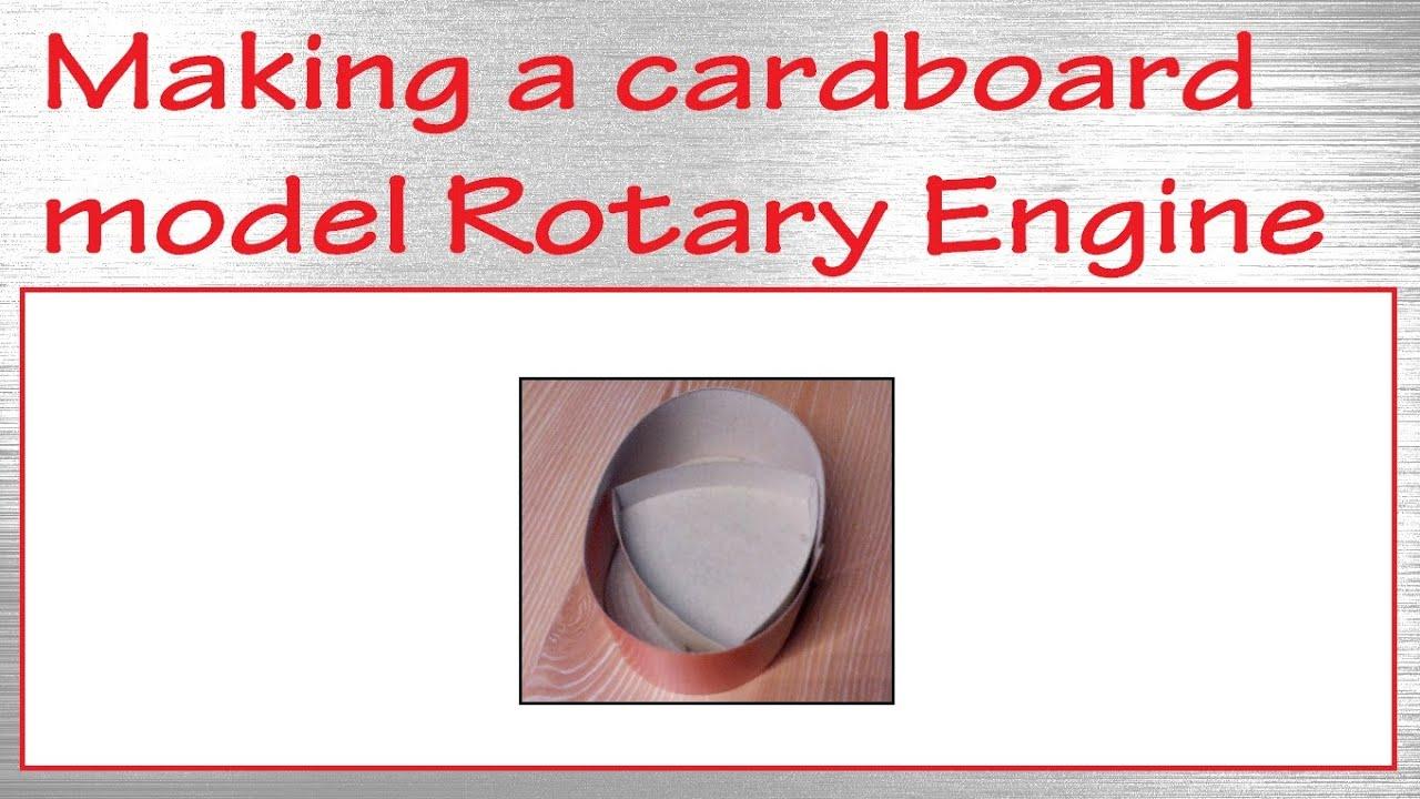 Papercraft Making a paper cardboard model rotary engine / Wankel engine