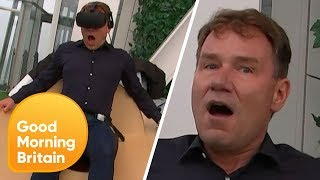 Reporter Left Terrified by Virtual Reality Simulator!   Good Morning Britain