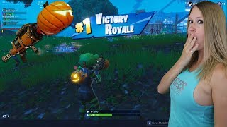 INSANE HIGH KILL WIN W/ PUMPKIN LAUNCHER / SPOOKY TEAM LEADER SKIN !! Fortnite : Battle Royale