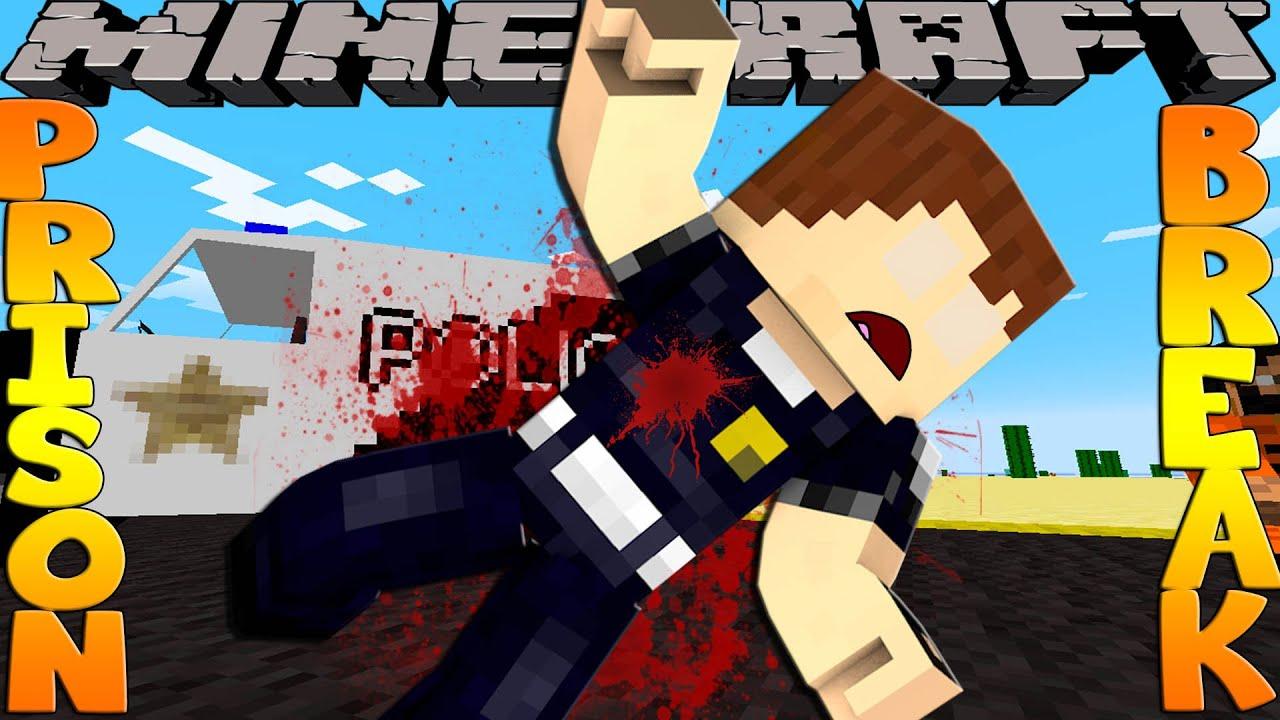 Minecraft PRISON BREAK - SCUBA STEVE GETS SHOT!!!!