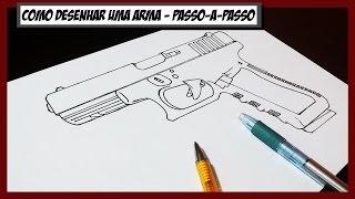 Drops Draw #2 - Como desenhar uma Arma Detalhada (Pistola 9mm) - How to Draw Gun