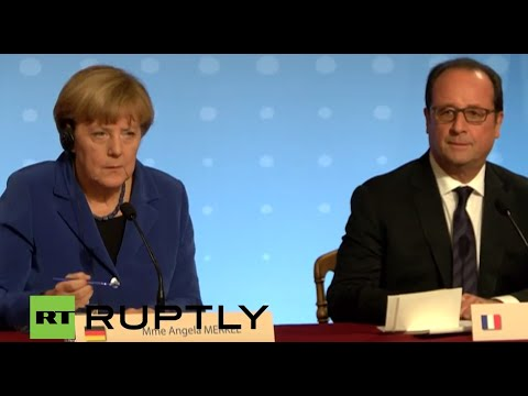 LIVE: Merkel and Hollande to give press statement following 'Normandy format' talks in Paris
