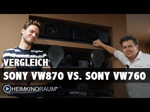 Vergleich Sony VPL-VW870 vs. VW760 - das native 4K Laser-Duell!
