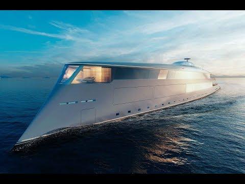 Sinot AQUA Superyacht Concept (2019). Hydrogen-powered luxury ship