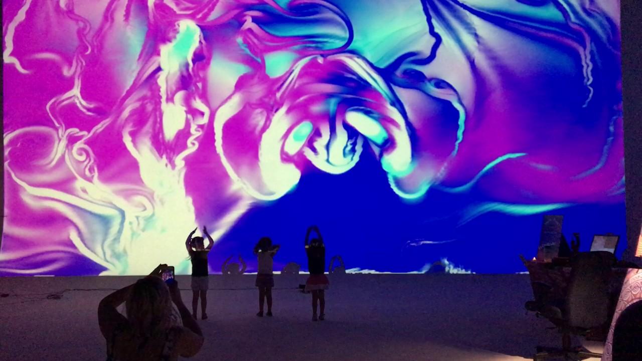 Kinect Hand Fluids at Brewery Artwalk
