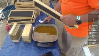 how to apply beeswax to plastic foundation