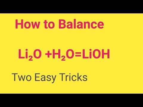 Li2O +H2O=LiOH Balanced Equation || Lithium Oxide And Water Balanced Equation