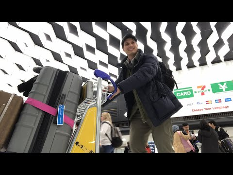 Narita Airport To Tokyo: Arrival To Train In Real Time