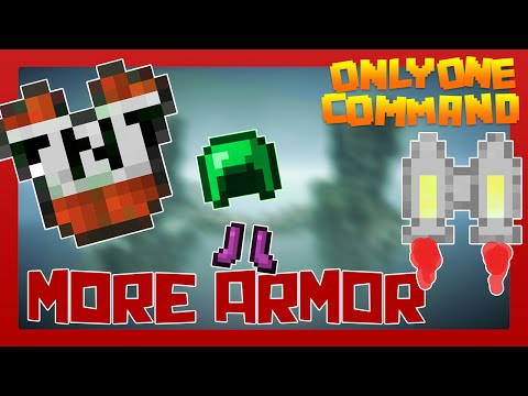 MORE ARMOR with only one command block | Minecraft 1.9 Survival Friendly