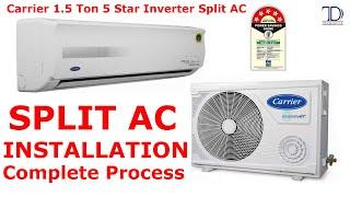 Split AC Installation & Unboxing | Carrier 1.5 Ton 5 Star Inverter Split AC