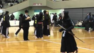 平成27年2月8日に行われた第13回西日本選抜少年剣道大会における春日光...
