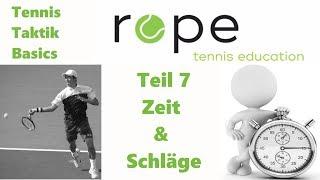 Tennis Taktik Basics - Teil 7 - Zeit und Schläge