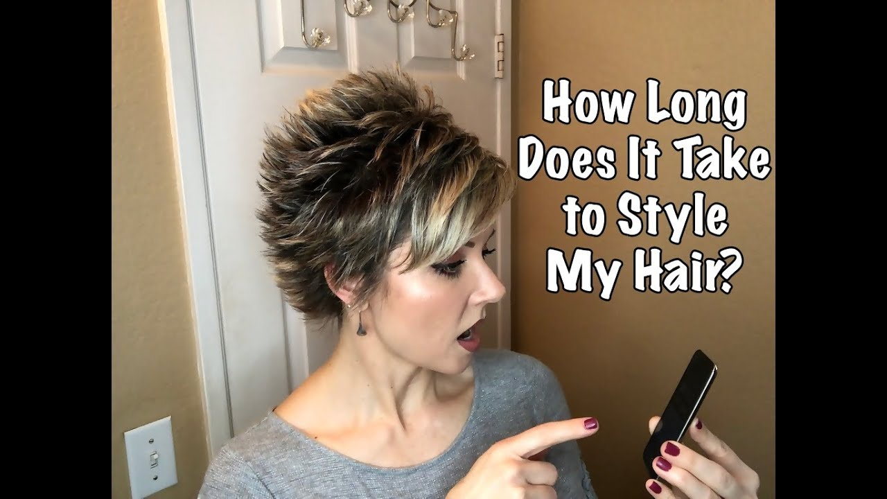 Timed Spiky Hair Tutorial Styling A Longer Pixie Cut