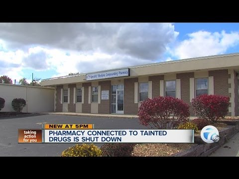 Pharmacy connected to tainted drugs is shut down