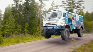 A Kamaz T4 Dakar Beast Tears Up a Backcountry Track