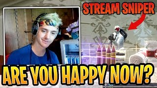Ninja QUIT Fortnite After Being Stream Sniped AGAIN! - Fortnite Best and Funny Moments