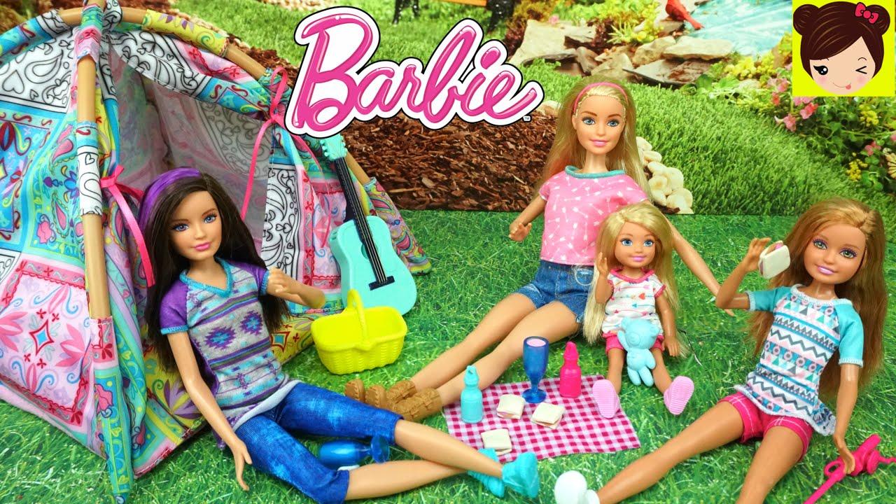 Barbie Y Sus Hermanas Van De Campanento Y Ken Les Da Un Gran Susto